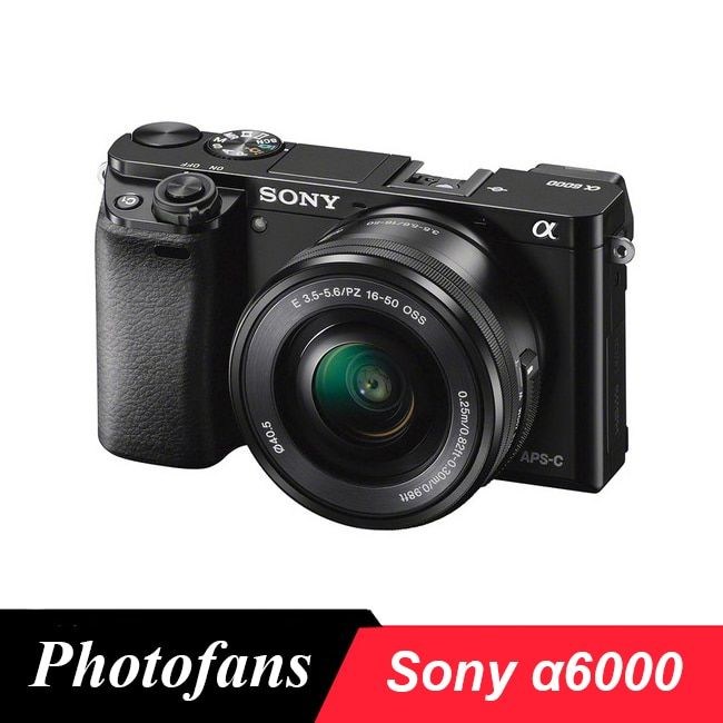 Sony A6000 Spiegellose Digital Kamera ILCE-6000L mit 16-50mm Objektiv-24.3MP-Full HD Video Marke Neue