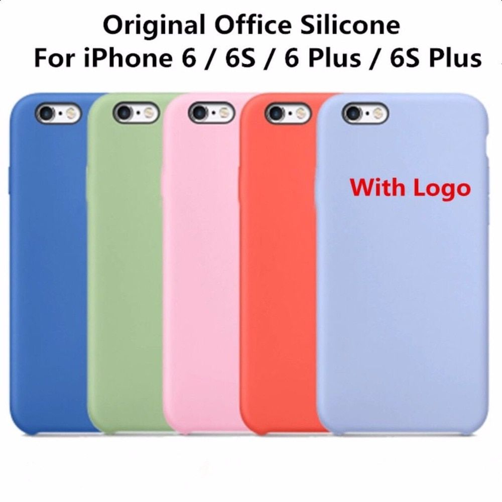 Original high Cope Officeal Silicone Case For iPhone 6 6S 5 S E 7 8 X Top Phone Cover Luxury Case For iPhone 6 6s Plus With Logo