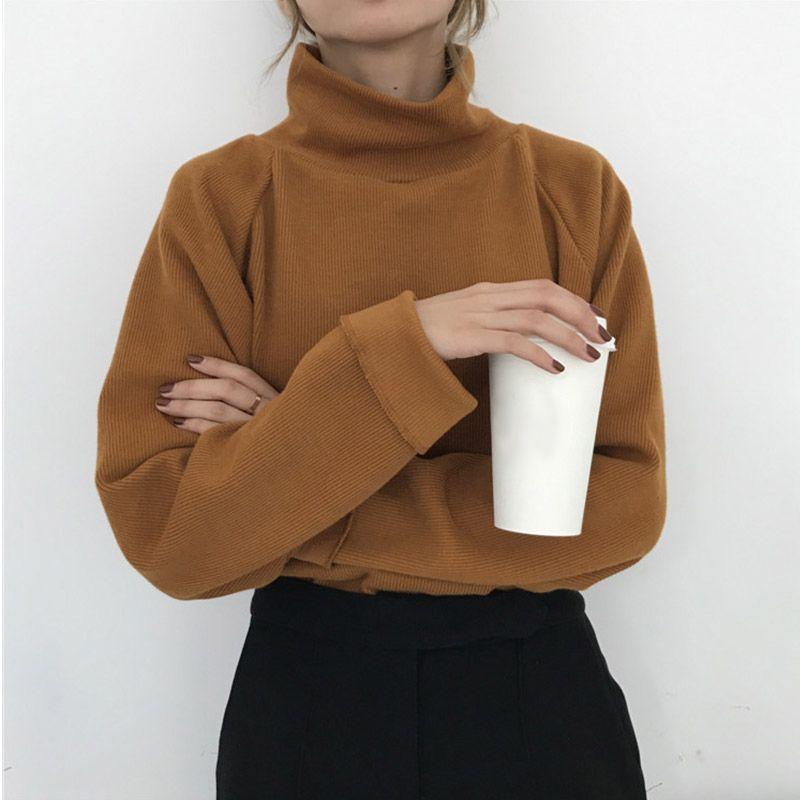 Ccibuy11 pull à col roulé tricoté pour femmes femmes chandail décontracté lâche manches longues chauve-souris pulls au crochet Streetwear