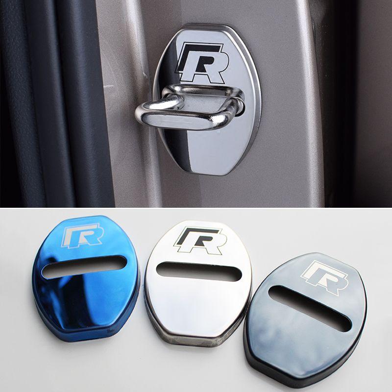 Housse de Protection pour serrure de porte de voiture pour Skoda Kodiaq Octavia A5 A7 Rapid Karoq Yeti superbe pour VW Golf Passat Tiguan