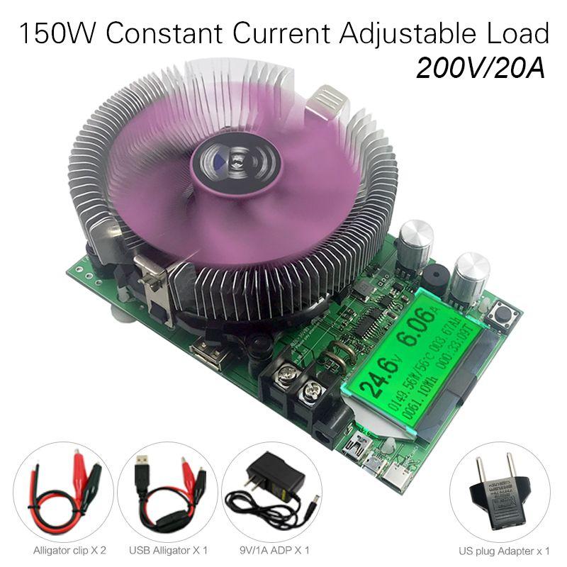 200 V 20A 150 W testeur de batterie de charge électronique à courant Constant réglable 12V24V48V compteur de capacité de décharge au lithium au plomb-acide