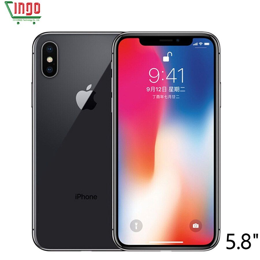 Original apple iphone x 3 GB RAM 64 GB/256 GB ROM 5.8 pulgadas Cara ID 12mp 2716 Mah hexa Core iOS 4G LTE Smart teléfono móvil desbloqueo