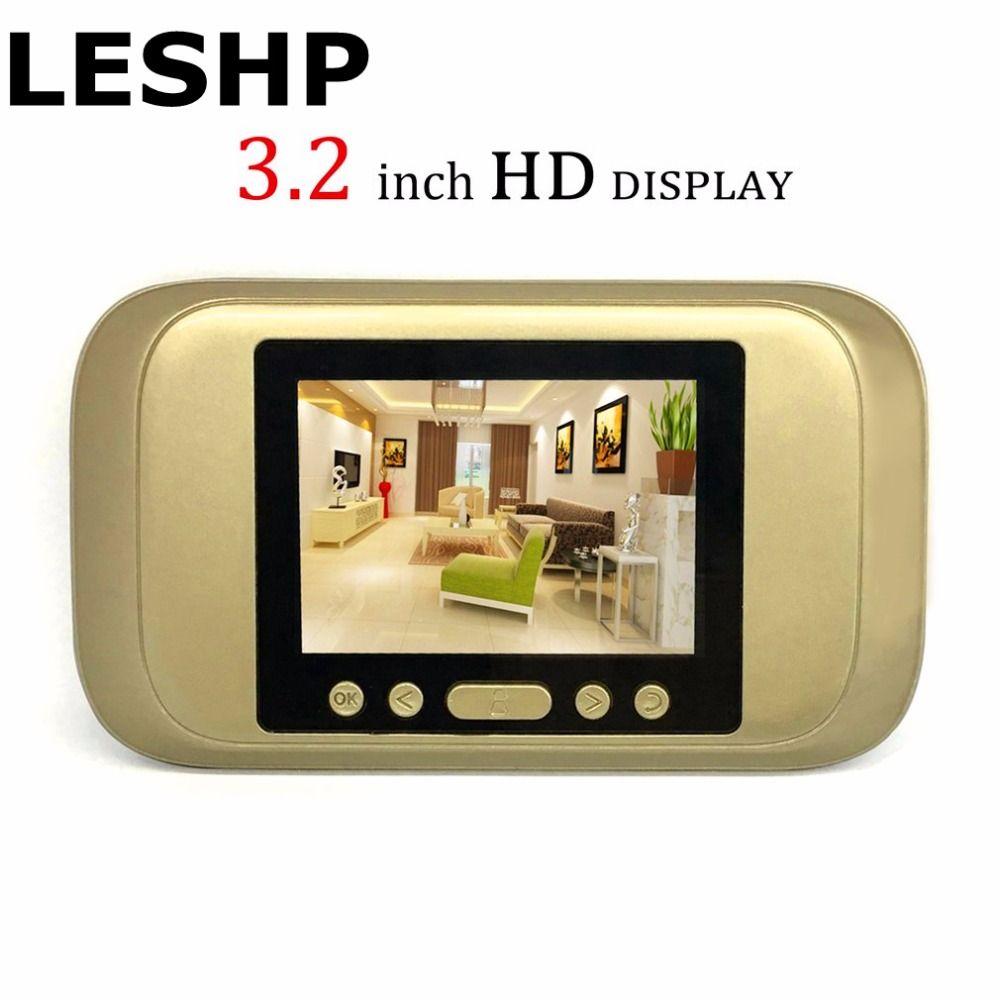 LESHP Digital Door Viewer 3.2 LED Display 720P HD Peephole Viewer Visual Doorbell Night version For Home Security Camera