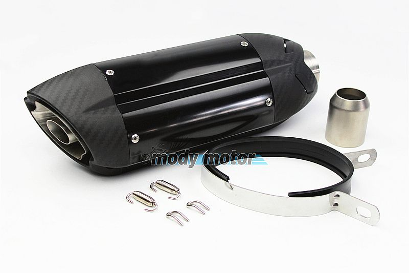 MGOD-Motorcycle sports car modified MT07 09 for 10RZX6R10R Z800 Italian devil MIVV exhaust pipe 36-51mm universal ninjia er6n