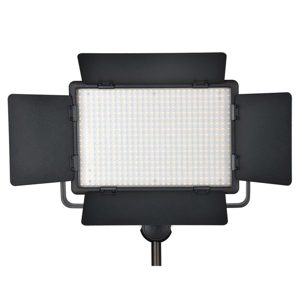 Godox 500 LED Lamp Panel LED500C 3300-5600K Bi-color /LED500W White Video Light Lighting+ Power Adapter + Wireless Remote