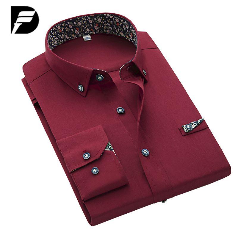 Nueva Marca Para Hombre Camisa De Vestir Negro Sólido de La Moda Masculina Para Hombre Camisas de Los Hombres de Lujo Camisas de Vestir Camisa Masculina ocasional Más Tamaño S-4XL