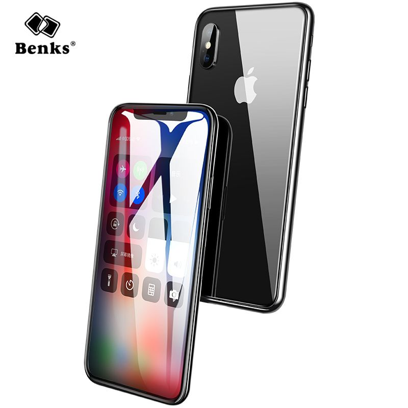 Benks Curved Tempered Glass For iPhone X Tempered Glass Screen Protector Full Cover Anti Dust Protective For iPhoneX Glass Film