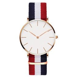 Drop Shipping Watches For Men Women Ultra Slim Quartz Watch with Simple Nylon Band Relogio Masculino Wristwatches Free Shipping