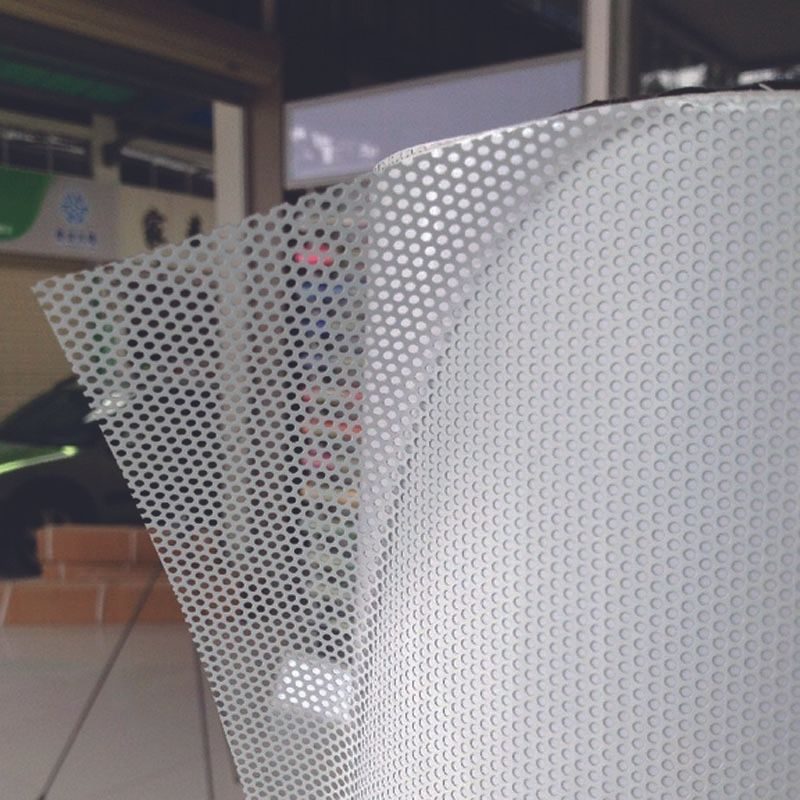 One-Way Perforated Vinyl Privacy Window Film Adhesive Glass Wrap Roll 54inx100ft / 1.37mx30m