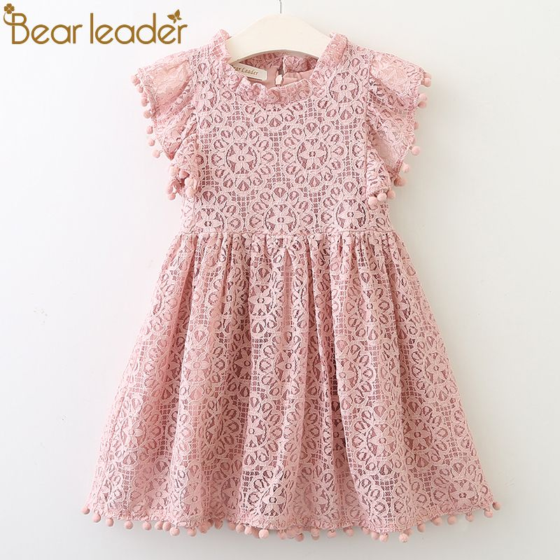 Bear Leader Girls Dress 2018 New Summer Brand Girls Clothes Lace And Ball Design Baby Girls Dress Party Dress For 3-7 Years