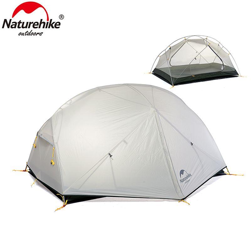 Naturehike Mongar 3 Saison Zelt 20D Nylon Fabic Doppelschicht Wasserdichtes Zelt für 2 Personen NH17T007-M