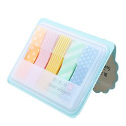 1 unid Cute Kawaii Candy color Stick marcadores libro página índice bandera Memo Pad pegatinas parche Oficina escuela suministros
