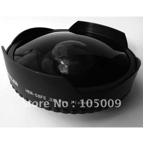 58mm 0.3X Ultra Fisheye Wide fish eye Lens for 58 mm 0.3 Camcorders DV