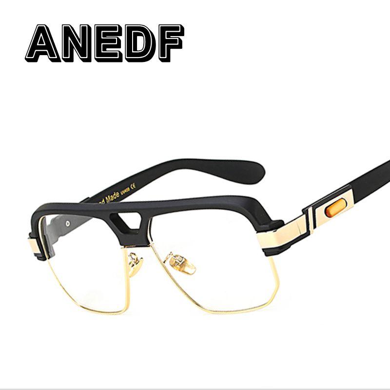 ANEDF Populaire Oversize Femmes Carré lunettes Marque Designer Mode Hommes Transparent Cadre Objectif Clair Lunettes