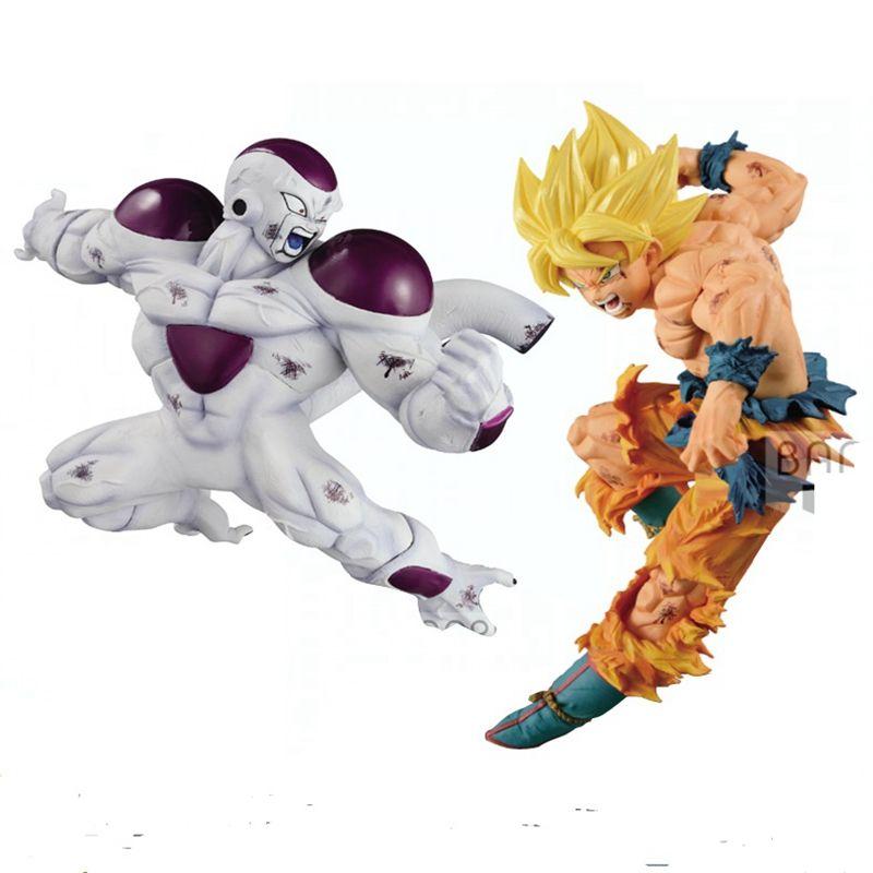 WSTXBD BANPRESTO Original Dragon Ball Z DBZ Match Makers SSJ Goku VS Freeza Action Figure Toys Figurals Model Kids Dolls