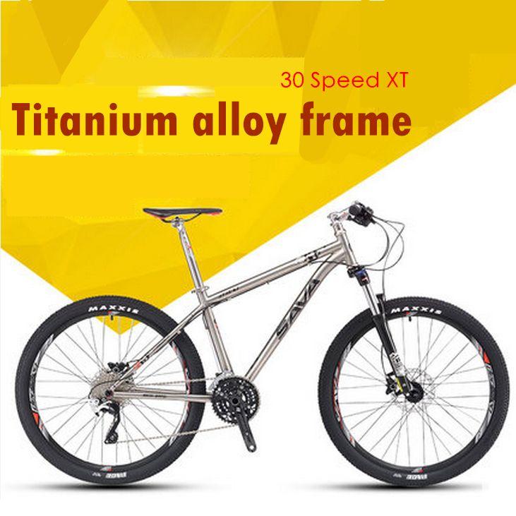 Neue 26 zoll Titan legierung rahmen 30 Geschwindigkeit XT übertragung Öl disc bremsen mountainbike outdoor downhill MTB fahrrad
