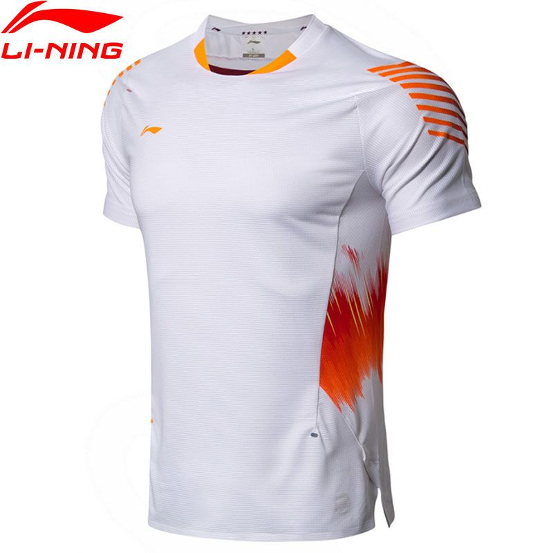 Li-Ning Männer Badminton T-Shirt ZU TROCKEN Atmungsaktive Komfort Nationalen Team Wettbewerb Top Futter Sport Tees T-Shirt AAYN005 MTS2889