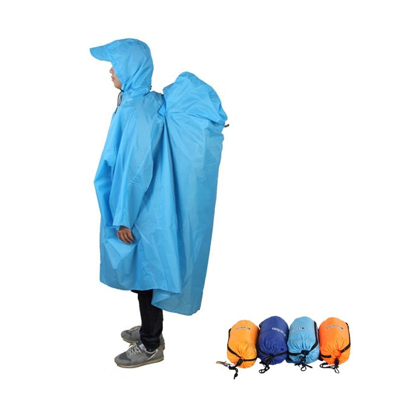 ackpack Cover One-piece Raincoat Poncho Rain Cape Outdoor <font><b>Hiking</b></font> Camping Raincoat Jackets Unisex