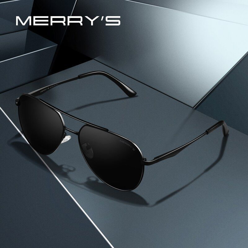 MERRYS DESIGN Men Classic Pilot Sunglasses Aviation Frame HD Polarized Fashion Sun glasses For Driving UV400 Protection S8316N