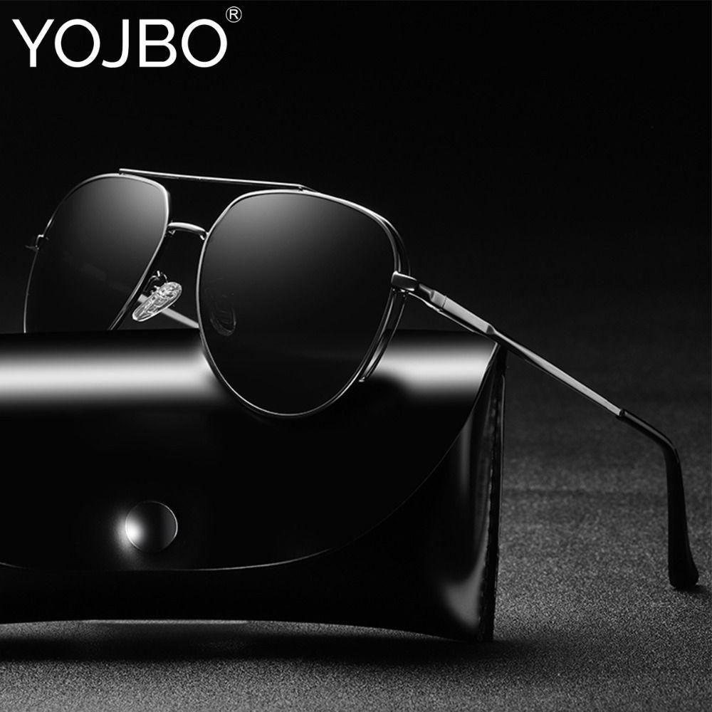 YOJBO Classic Pilot Driving Polarized Sunglasses Men Women Brand Designer Eyewear Mirror UV400 Vintage Male Sun Glasses Oculos