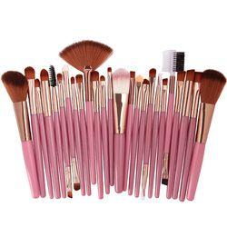 2019 Populer 25 Buah Set Kuas Makeup Kecantikan Foundation Power Blush Eye Shadow Alis Bulu Mata Fan Bibir Wajah Make Up kuas