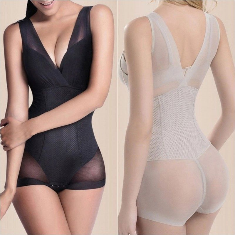 Lady Slimming Burn Fat Briefs Shapewear Tummy Slim Bodysuit Full Body Shaper A82