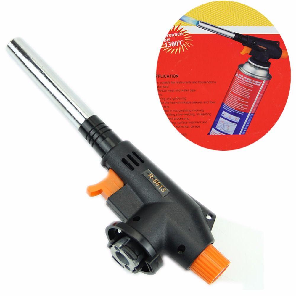 Outdoor Welding BBQ Tool  Flamethrower Butane Gas Blow Torch Auto Ignition W15