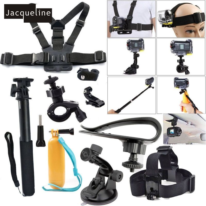 Jacqueline for Accessories Kit Set for Sony Action Cam HDR AS20 AS200V AS30V AS15 AS100V AZ1 mini FDR-X1000V/W 4 k Action cam