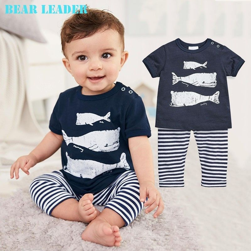 Bear Leader Baby Clothing Sets 2018 Spring&summer Baby Boys Clothes Long Sleeve T-shirt+Pants 2Pcs Suits Children Clothing