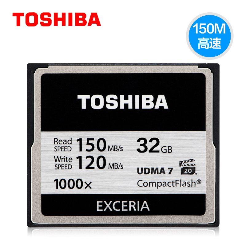 Original TOSHIBA Genuine 128GB 32GB Hi-Speed CF Memory Card 1000X High speed Compact Flash CF Card Applicable Digital Camera