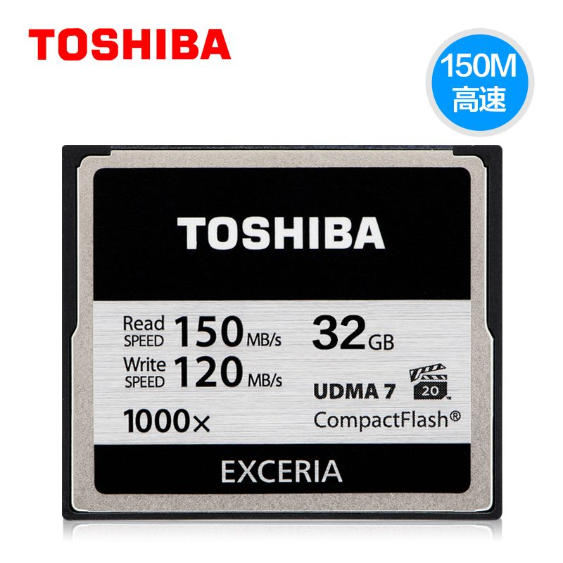 Original Toshiba 128 GB 32 GB Hallo-Speed Cf-speicherkarte 1000X High speed CF Compact Flash Karte anwendbar Digitalkamera
