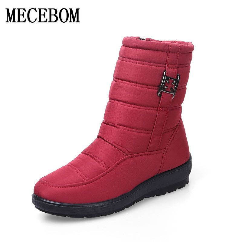Plus Size Waterproof Flexible Woman Boots High Quality Warm Fur Inside Snow Boots Winter Shoes Woman calzado mujer 1608W