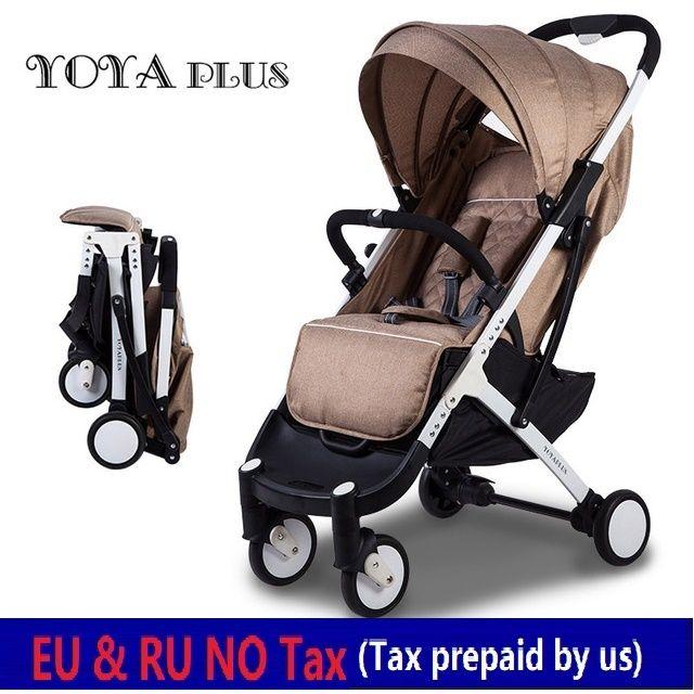 EU NO TAX YOYA PLUS 2018 baby strollers foldable lying or sitting stollers bebek arabasi kinderwagen ultra-lightweight strollers