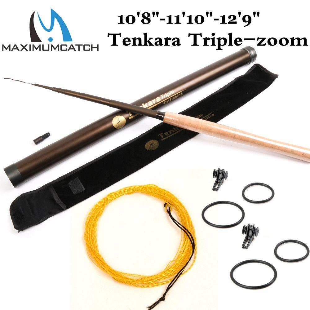Canne à mouche Maximumcatch Tenkara Triple tige de zoom (10'8