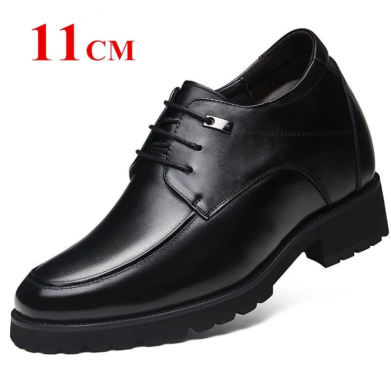 Extra haute 4.7 pouces classique Oxford cuir de veau hauteur augmentant les chaussures d'ascenseur augmenter la hauteur des hommes 12 CM invisiblement