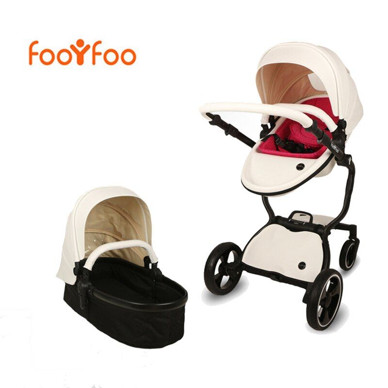 Foofoo kinderwagen Hoher landschaft baby trolley leder