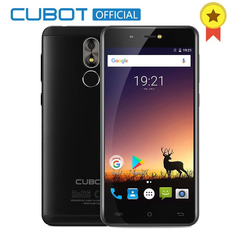 Cubot R9 Quad Core MT6580 Android 7.0 Fingerprint 2GB RAM 16GB ROM Smartphone 5.0 Inch 1280x720 HD Screen 13.0MP Camera Celular