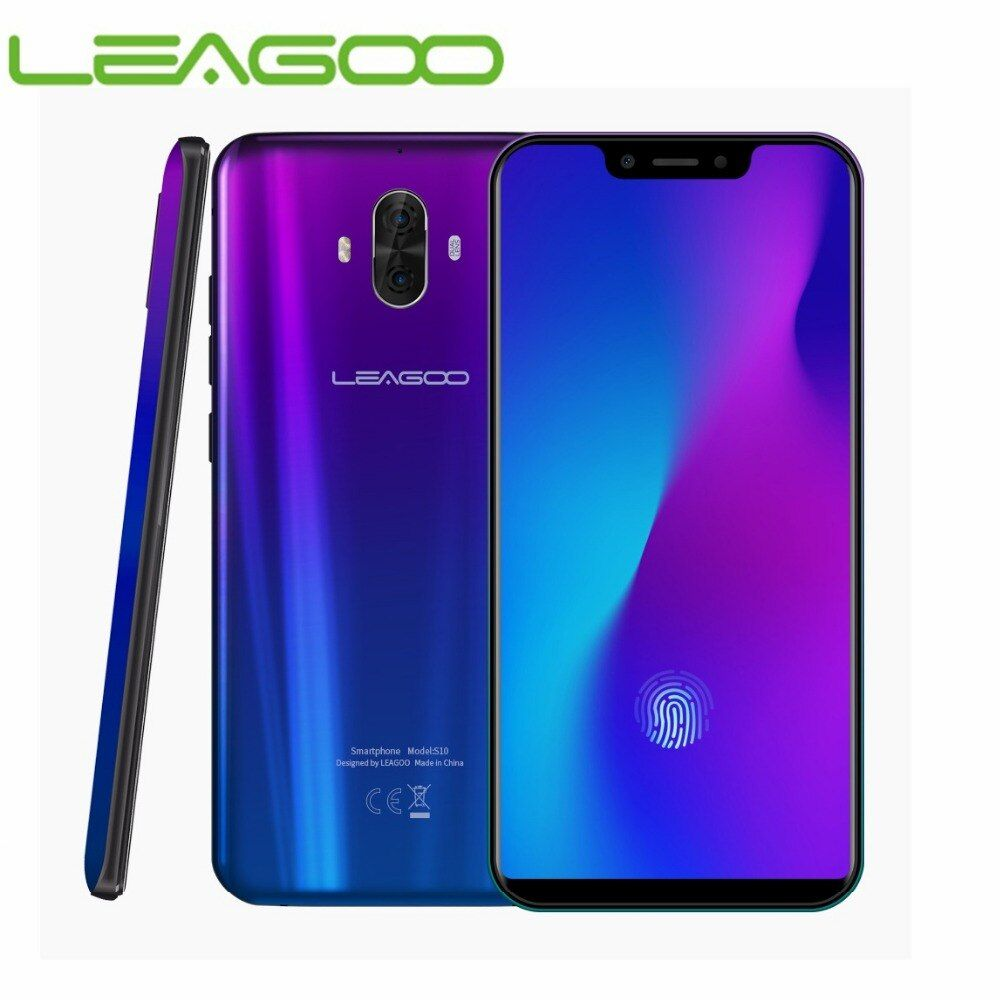 Globale Version LEAGOO S10 4G Smartphone 6 GB RAM 128 GB ROM 6,21 19:9 Volle Bildschirm In- display Fingerprint 20MP Dual Hinten Cams