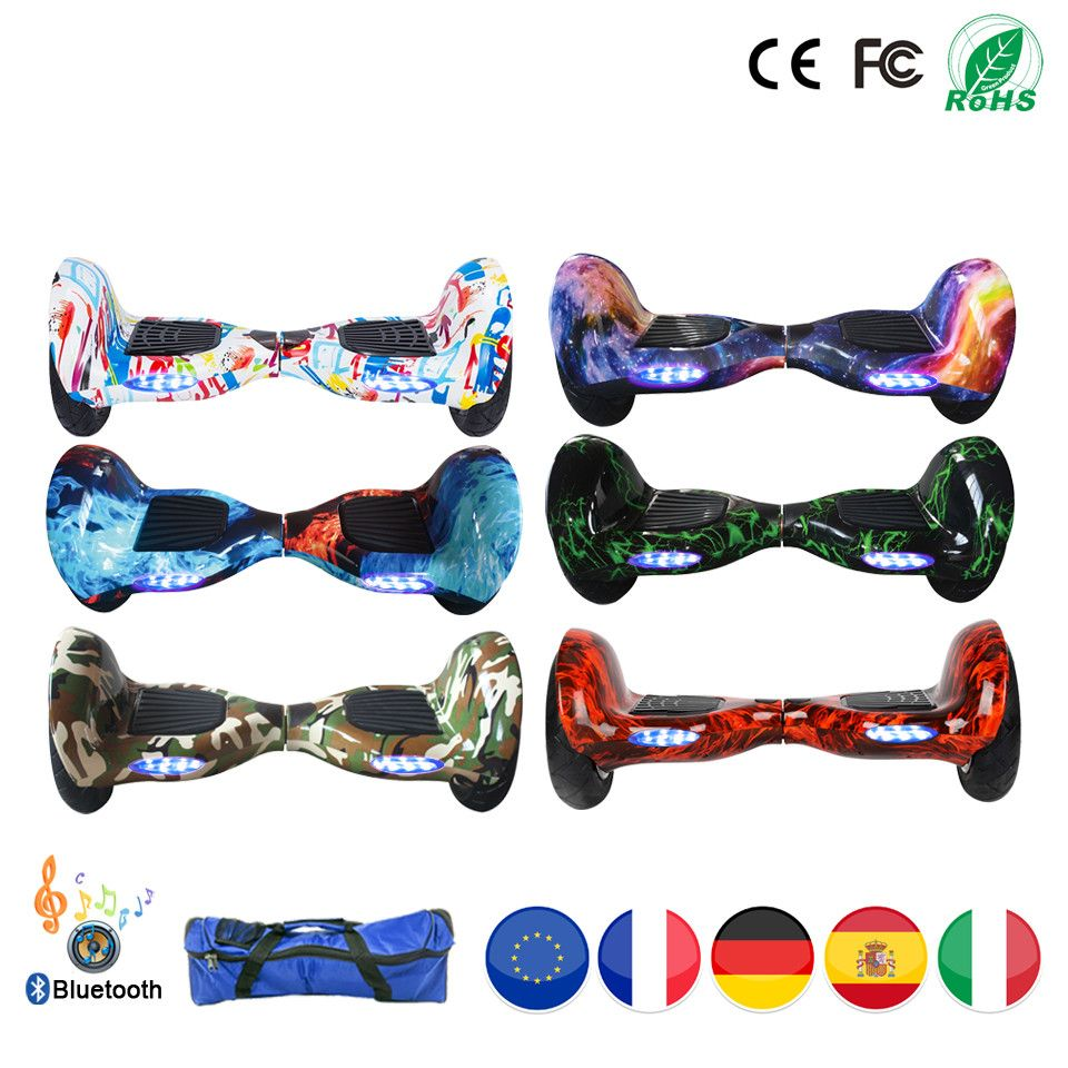 Self Balancing Scooter Adult Electric Skateboard Hoverboard 10 inch 36v Lithium Battery 10 inch Solid Tyre Or Pneumatic Tyre