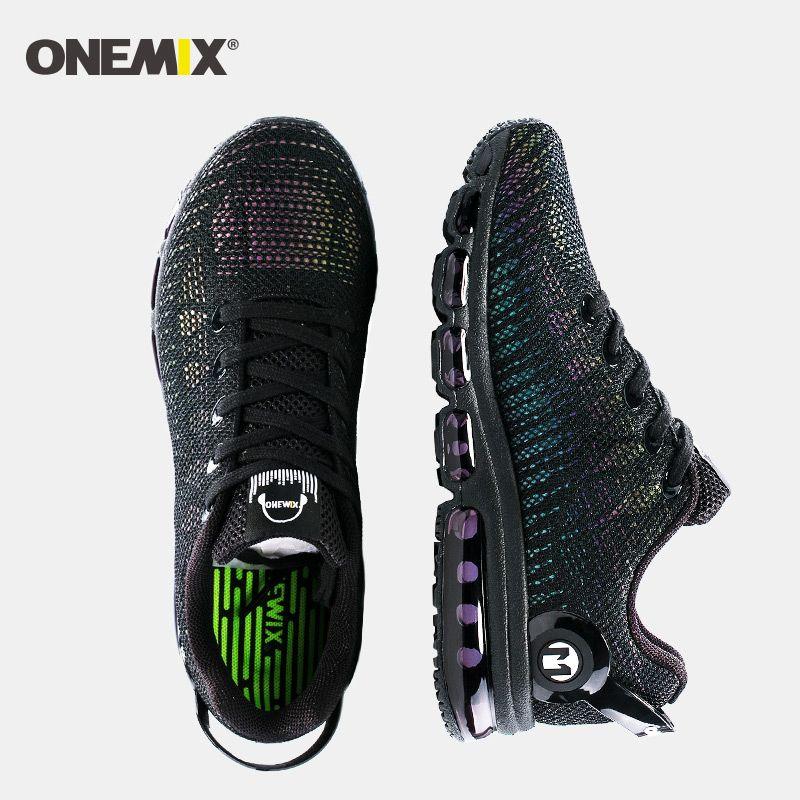 Nouveau air course chaussures pour hommes baskets léger coloré réfléchissant maille vamp noir Sneaker Air coussin athlétique formateur homme