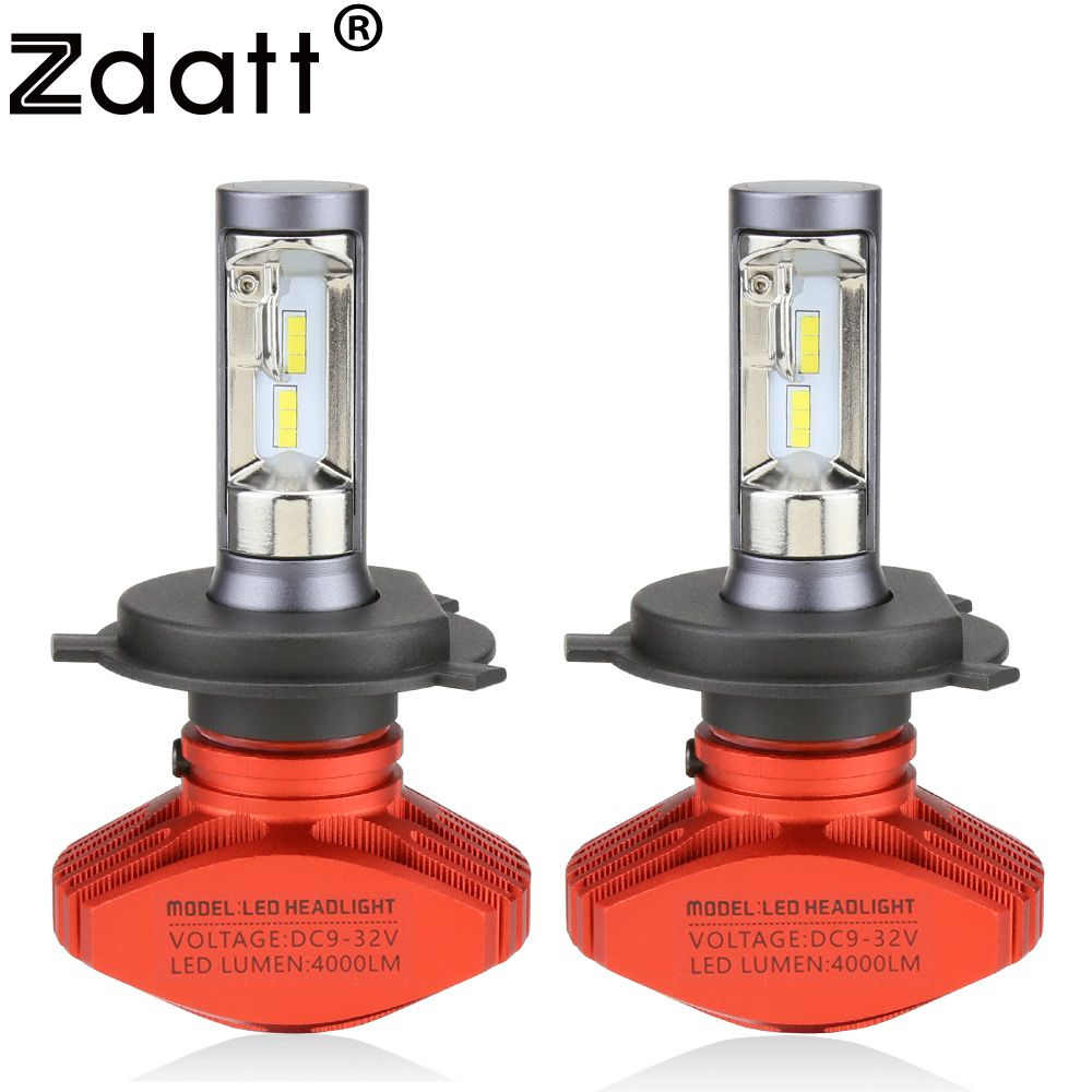 Zdatt Headlight H4 H7 H8 H9 H11 9005 HB3 9006 HB4 9003 HB2 Led Bulb Car Light 12V 6000k 8000Lm 12000Lm COB Led Lamp Automobiles