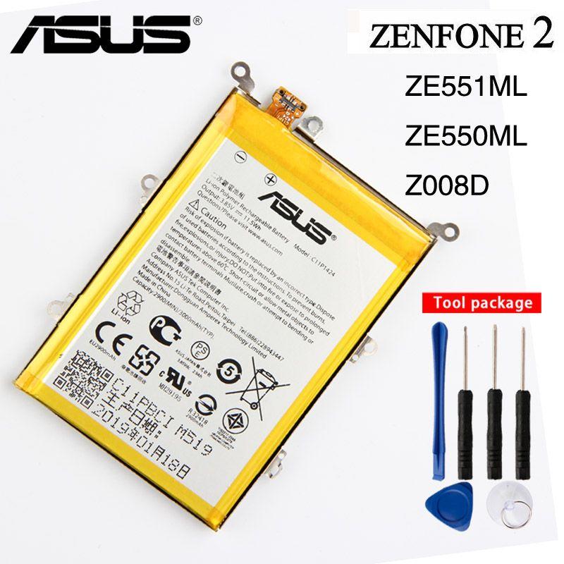 Original C11P1424 Battery For Asus ZenFone 2 Z008D ZE551ML ZE550ML Z00AD ZenFone2 5.5inch 3000mAh