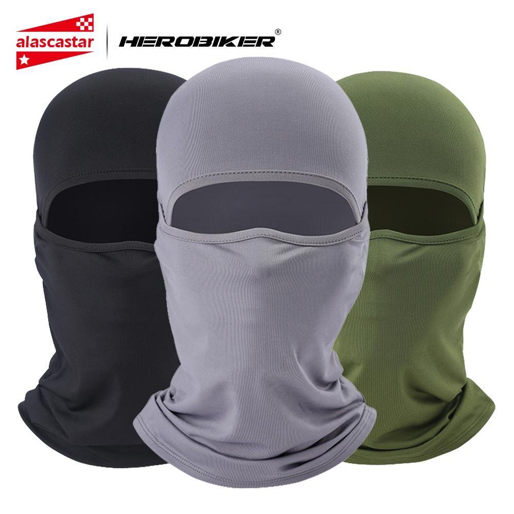 HEROBIKER 2019 New Motorcycle Face Mask Lycra Moto Balaclava Biker Face Shield Ski Mask Stopper Windproof Motorcycle Mask