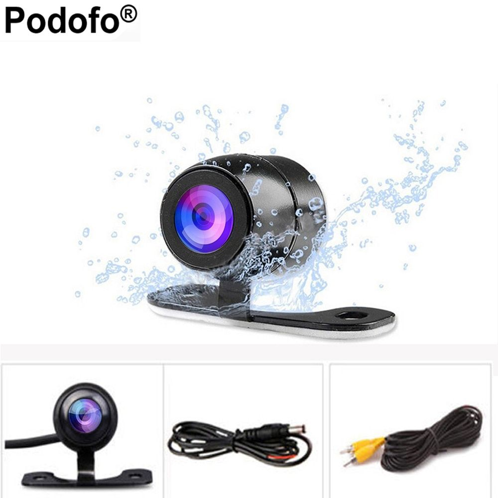 Podofo Auto CCD HD Car Backup Reverse Camera Rear Monitor Parking aid Universal Camera Front Rear View Camera Waterproof Camera