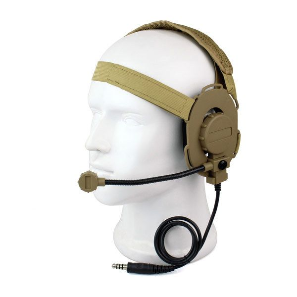 Z Tactical Bowman Elite II Headset For Walkie Talkie HD-03 Yellow Color For Portable Ham Two Way Radio Accessories C2129Y