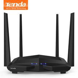 Tenda AC10 1200 Mbps Sans Fil WiFi Routeur, 1 ghz CPU + 128 m DDR3, 1WAN + 3LAN Gigabit Ports, 4 * 5dBi Antennes À Gain Élevé, Smart APP Gérer