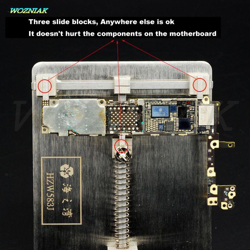 Wozniak Mobile téléphone entretien, pince, pour, iPhone BGA puce Carte Mère fixation Emplacement Enlever la colle Tin usine pince Fixe