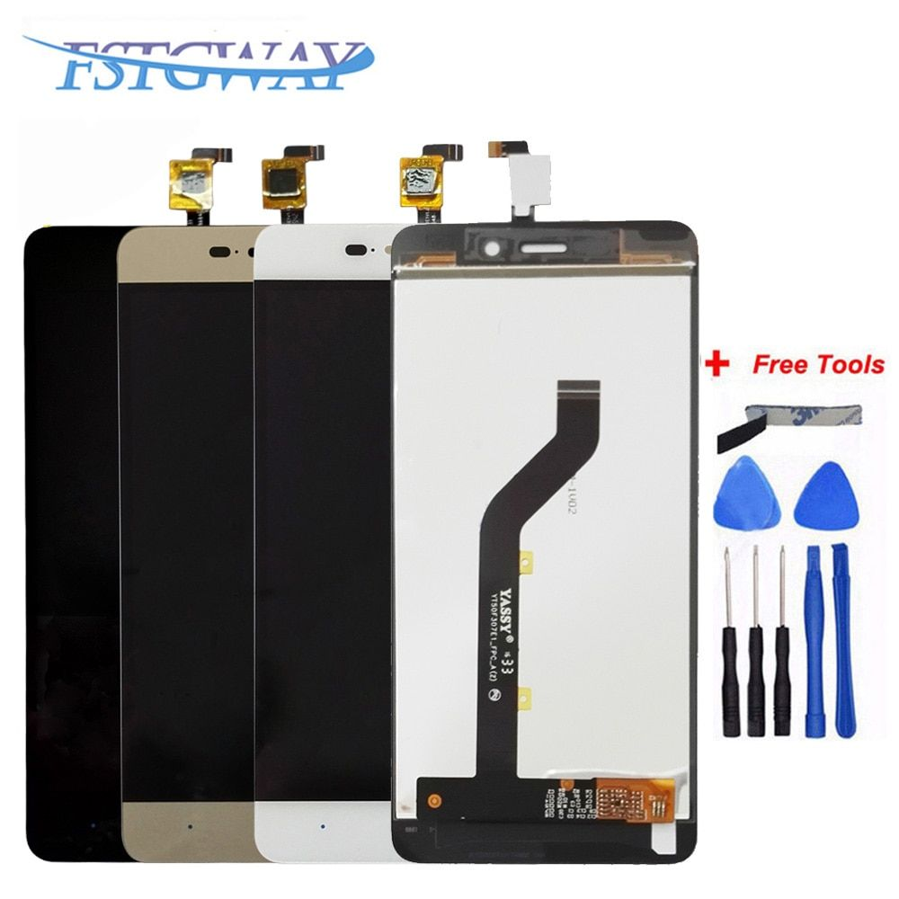 FSTGWAY For Grade AAA 5 inch high screen for ZTE Blade X3 D2 T620 A452 LCD display screen Replacement Lens Touch Digitizer