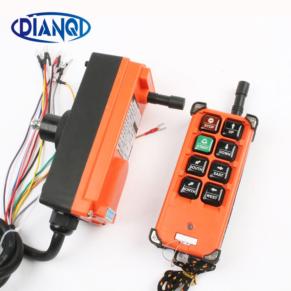 Wireless Industrial remote controller switches Hoist Crane Control Lift Crane 1 transmitter + 1 receiver F21-E1B 6 channels