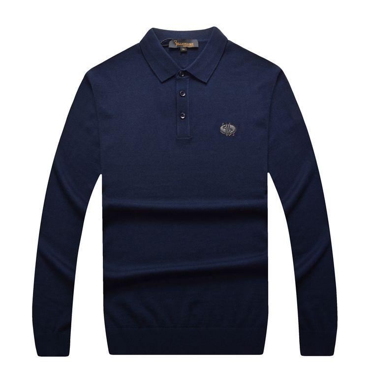 El multimillonario de Alta Costura Italiana camisa de los hombres 2016 otoño popular volvió cuello comercio caballero ocasional de la alta calidad envío gratis